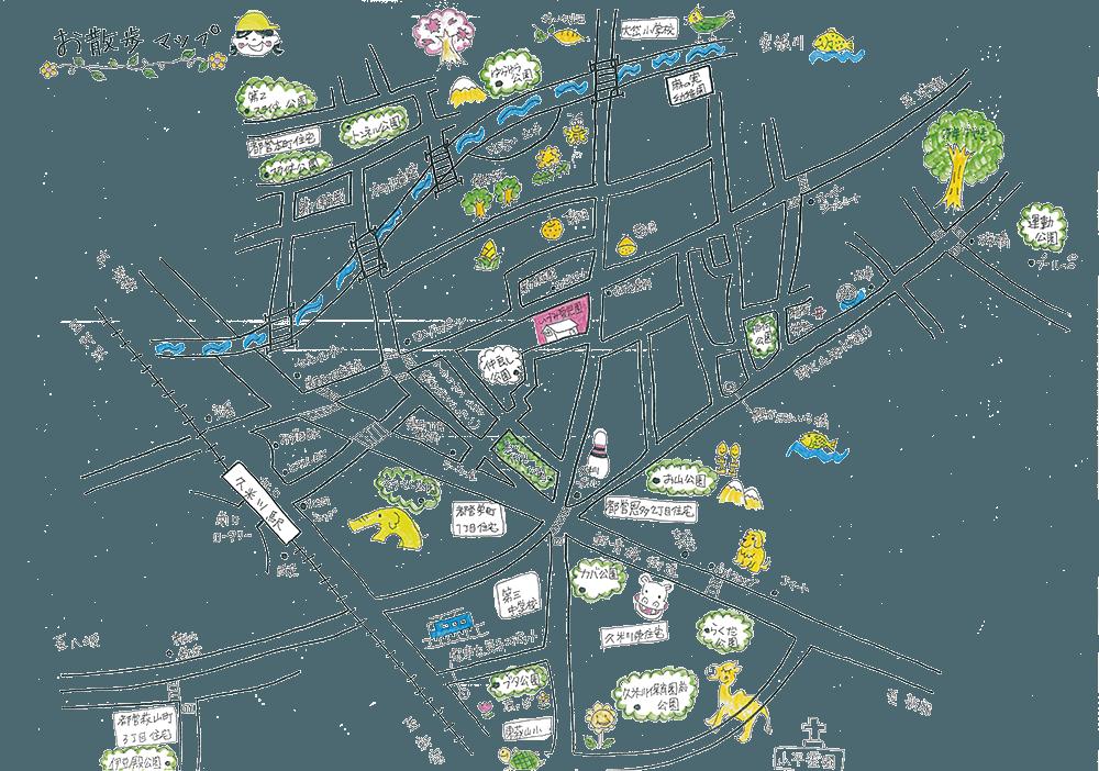 いづみ愛児園 おさんぽマップ